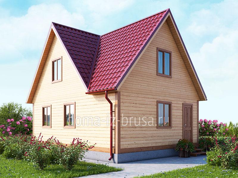 дом 6х8 из профилированного бруса