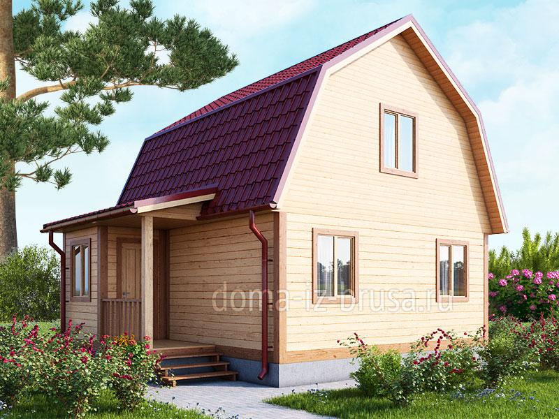 дом 6х7,5 из профилированного бруса